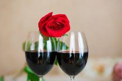 Rose And Glasses Fotografering för Bildbyråer