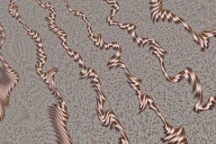 Rose Gold Abstract Texture stock illustratie