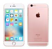 Rose Gold Apple iPhone 6S Royaltyfria Bilder