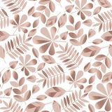 Rose gold assorted autumn leaves seamless pattern. Tender beige and rose gold assorted autumn leaves seamless pattern. repeatable motif for wrapping paper royalty free illustration