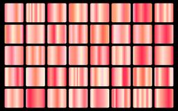 Rose Gold background texture vector icon seamless pattern. Light, realistic, elegant, shiny, metallic and rose gold gradient illus. Tration. Mesh vector. Design Royalty Free Stock Images