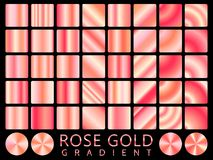 Rose Gold background texture vector icon seamless pattern. Light, realistic, elegant, shiny, metallic and rose gold gradient illus. Tration. Mesh vector. Design Stock Image