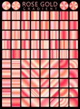 Rose Gold background texture vector icon seamless pattern. Light, realistic, elegant, shiny, metallic and rose gold gradient illus. Tration. Mesh vector. Design Royalty Free Stock Photos