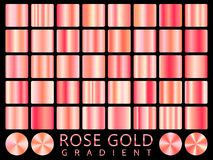 Rose Gold background texture vector icon seamless pattern. Light, realistic, elegant, shiny, metallic and rose gold gradient illus. Tration. Mesh vector. Design Stock Photos