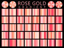 Rose Gold background texture vector icon seamless pattern. Light, realistic, elegant, shiny, metallic and rose gold gradient illus. Tration. Mesh vector. Design Royalty Free Stock Photo