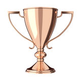 Rose gold bronze trophy Stock Images