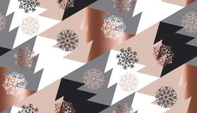 Rose gold color abstract xmas tree geometry Royalty Free Stock Photos