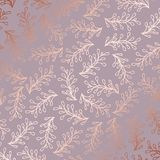 Rose gold. Elegant decorative floral pattern for printing Royalty Free Stock Photography