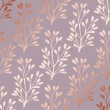 Rose gold. Elegant decorative floral pattern for printing. Sales, design of postcards, packaging, covers, cases and other surfaces royalty free illustration