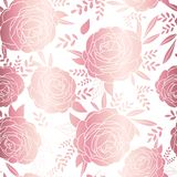 Rose gold. Elegant decorative floral pattern for printing, sales, design of postcards, packaging, covers, cases and vector illustration