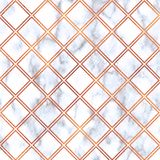 Rose Gold square on marble background,Rose Gold texture. Rose Gold geometric marble pattern. Rose Gold marble Wallpaper. Rose Gold geometric on marble background royalty free illustration