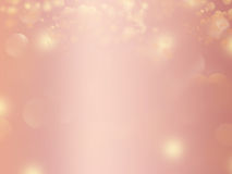 Rose gold glitter abstract background design. With sparkles and blur effects Royalty Free Stock Photography