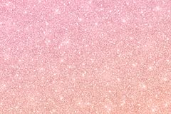 Rose gold glitter texture with color gradient. Rose gold glitter horizontal texture with color gradient royalty free illustration