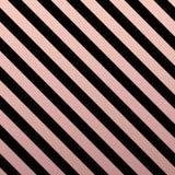 Rose Gold glittering diagonal lines pattern on black background. Classic pattern. Vector design Stock Illustration