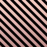 Rose Gold glittering diagonal lines pattern on black background. Classic pattern. Vector design Vector Illustration