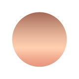 Rose gold gradient collection for fashion design,  illustration. Royalty Free Stock Photos