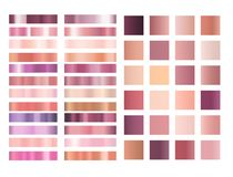 Rose gold gradient vector collection. Rose gold and pink gradient vector collection Vector Illustration