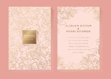Rose Gold Invitation Template illustrazione vettoriale
