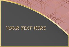 Rose Gold y Grey Text Background Template Imagenes de archivo
