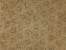 Rose Gray in Brown background. Royalty Free Stock Photo