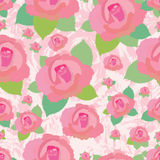 Rose grungy seamless pattern Stock Photo