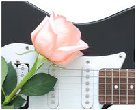 Rose guitar Royalty Free Stock Photos