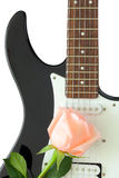 Rose guitar Royalty Free Stock Photography