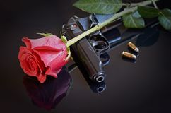 Guns and roses Royalty Free Stock Photography