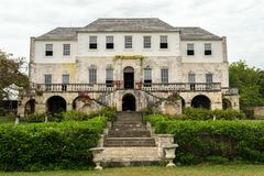 Rose Hall Great House in Montego Bay, Jamaïca stock foto's