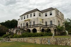Rose Hall Great House in Montego Bay, Jama?ca Populaire toeristische attractie stock foto's