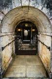 Rose Hall Great House in Montego Bay, Jama?ca Weergeven van ingang aan de kelderverdieping/bar van de achteringang stock foto's