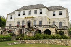 The Rose Hall Great House in Montego Bay, Jamaica. Popular tourist attraction. Vintage architecture royalty free stock photos