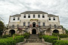 The Rose Hall Great House in Montego Bay, Jamaica. Popular tourist attraction. Vintage architecture royalty free stock image