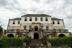 The Rose Hall Great House in Montego Bay, Jamaica. Popular tourist attraction. Vintage architecture stock images