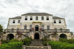 The Rose Hall Great House in Montego Bay, Jamaica. Popular tourist attraction. Vintage architecture royalty free stock images