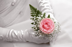 Rose on hand Royalty Free Stock Photo