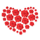 Rose hart. Hart composed of red roses. Love Royalty Free Stock Photo