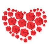 Rose hart royalty free stock photo