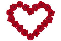 Rose-heart. A heart made of red roses Stock Photo