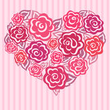 Rose heart Stock Photos
