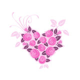 Rose heart. Romantic pink Valentine's rose heart Stock Photography