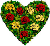 Rose Heart Royalty Free Stock Photography