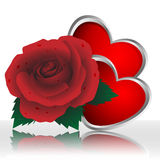 Rose and heart Royalty Free Stock Photography