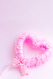 Rose heart. Pink picture in Valentines day Stock Image