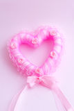 Rose heart. Pink picture in Valentines day Royalty Free Stock Photography