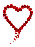 Rose heart. Formed by many roses Royalty Free Stock Photos