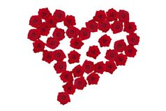Rose-heart 3. A heart made of red roses Royalty Free Stock Photos
