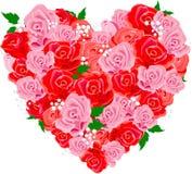 Rose_heart. Valentine rose heart shape. Vector illustration Stock Photo