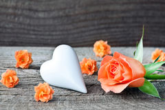 Rose and heart Royalty Free Stock Images