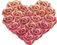 Rose Heart antica d'annata Immagine Stock